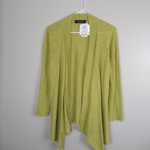 NWT Kasper Open Lightweight Knit Sweater Limeade M